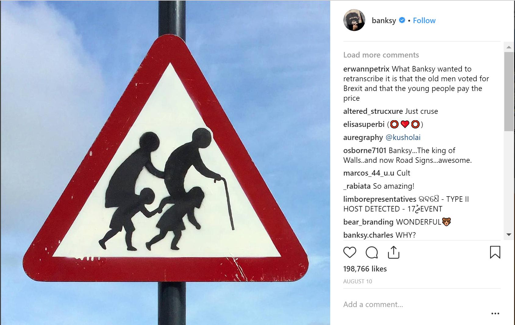 Instagram artist bansky account