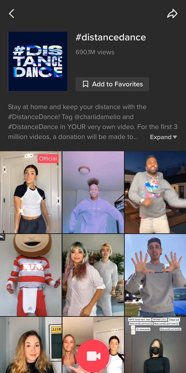 TikTok dance challenges